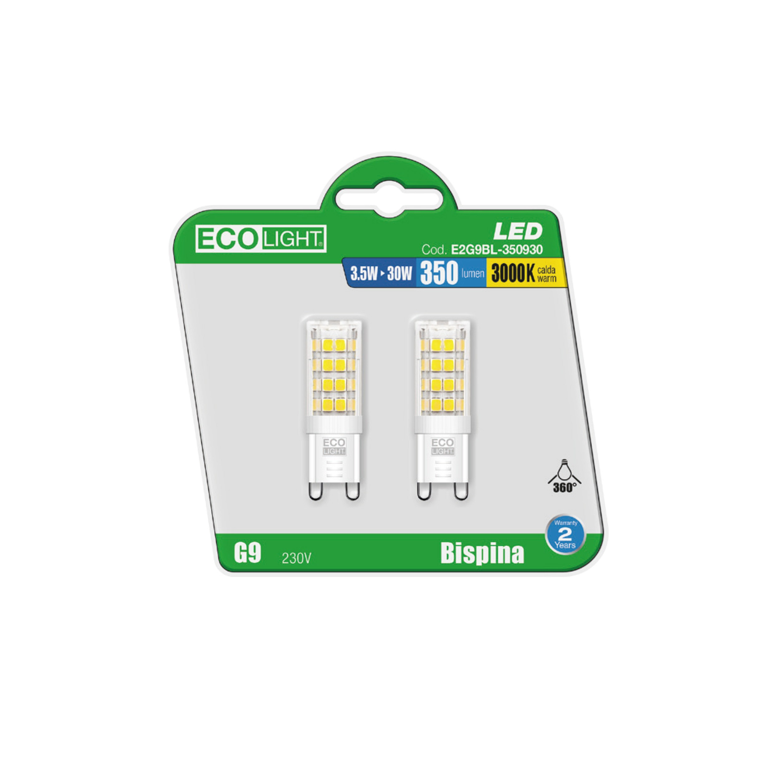 BL.2 LAMP.BISPINA G9 3,5W 350L