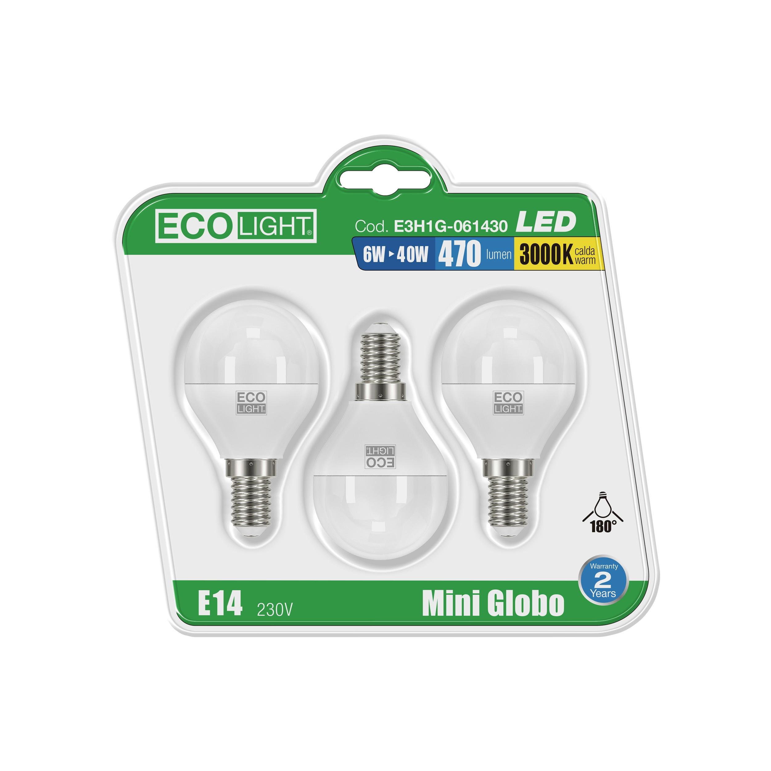 BL.3 LAMP.LED GLOBO E14 6400K