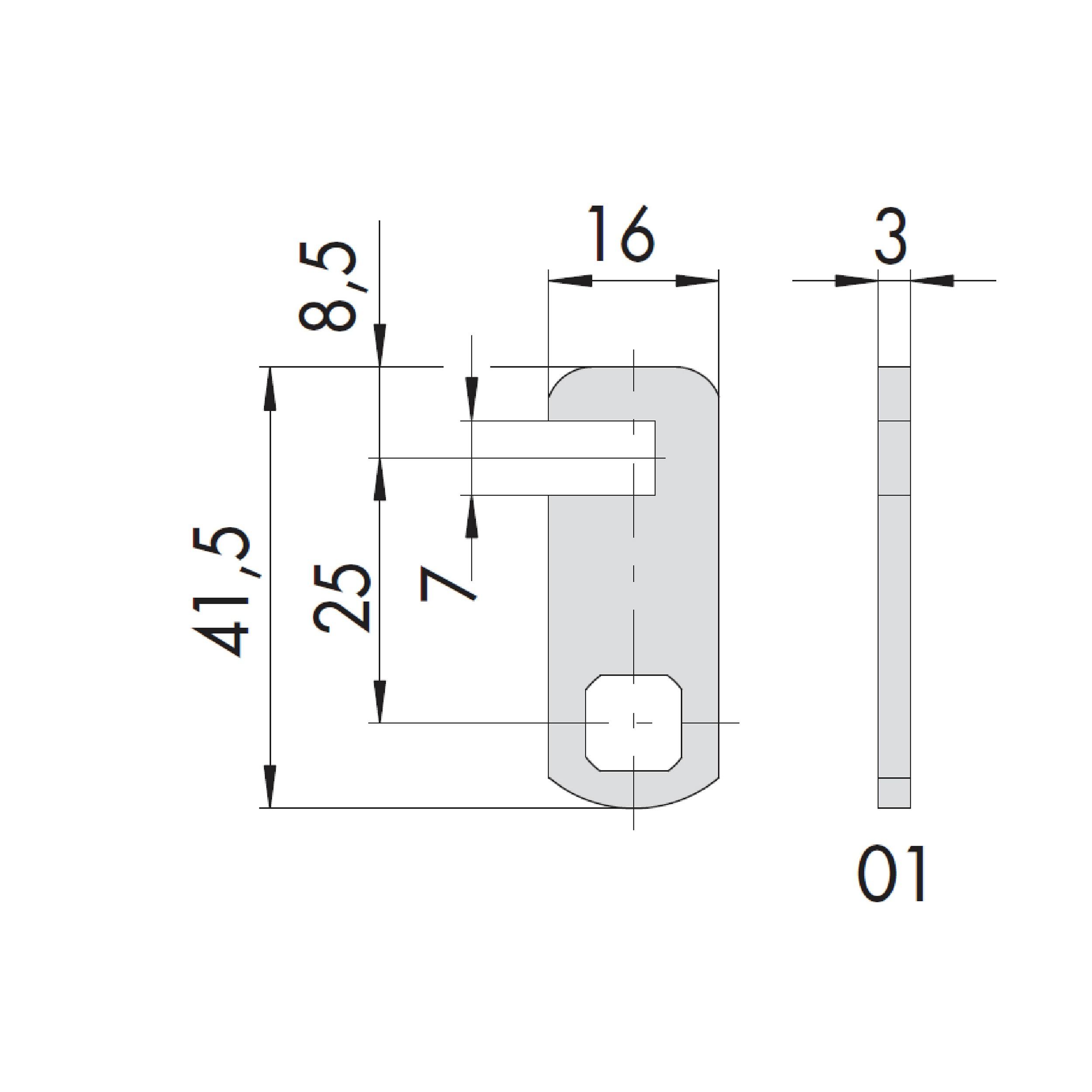 LEVA DIRITTA P/CILINDRO MM41,5