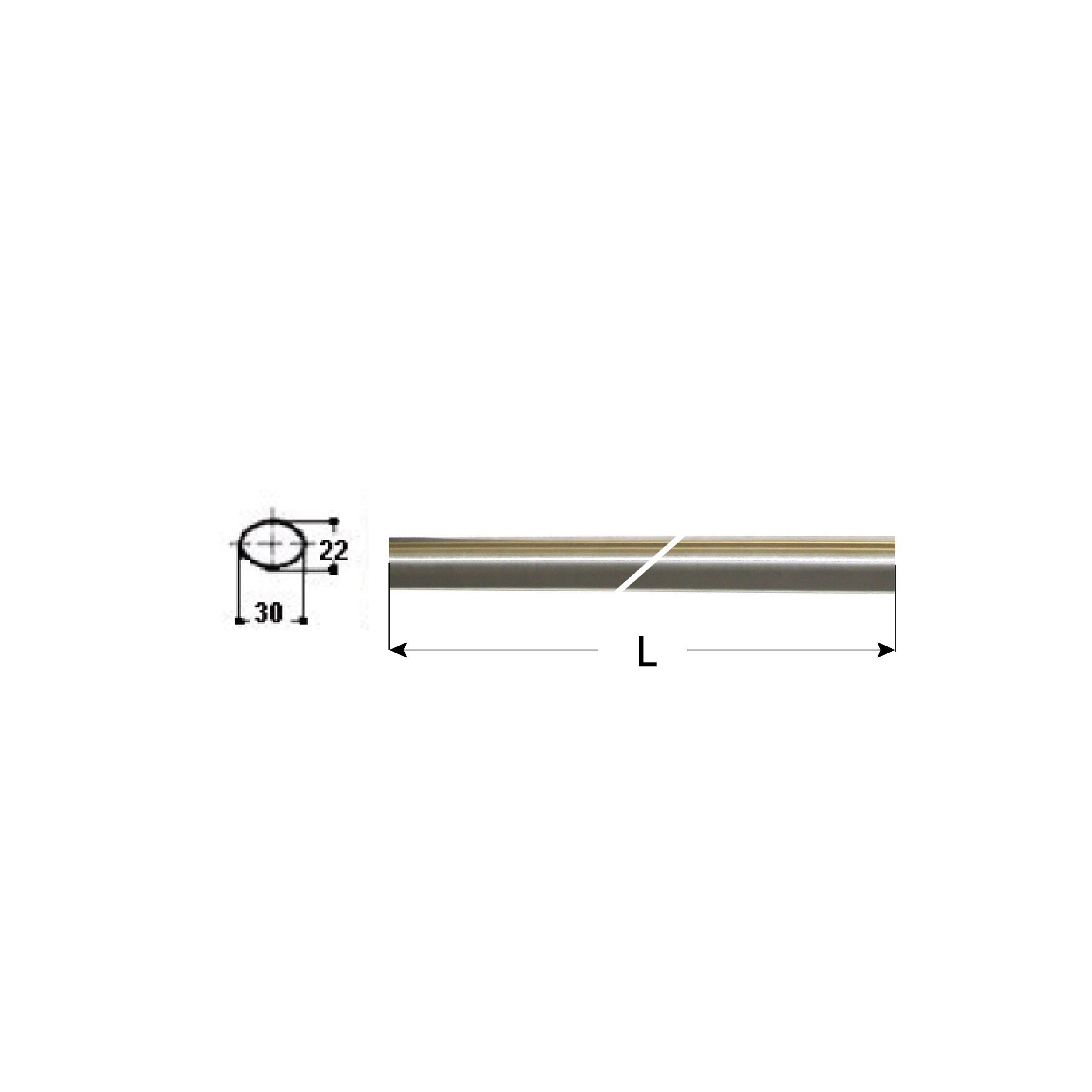 BARRE ORIZZONTALI mm. 900 INOX